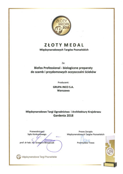 Złoty Medal - Nagroda Ekspertów